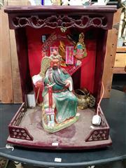 Sale 8925 - Lot 1074 - An electrified oriental offering shrine