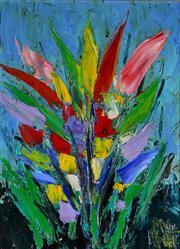 Sale 9002A - Lot 5011 - Kevin Charles (Pro) Hart (1928 - 2006) - Flowerscape 27 x 21cm