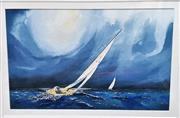 Sale 9058 - Lot 2052 - Frances Robertson, Sailing watercolour, frame: 54 x 69 cm, signed lower left