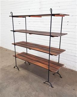 Sale 9134 - Lot 1062 - Metal four tier bakers stand (h:157 x w:141 x d:45cm)