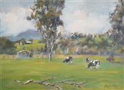 Sale 8323A - Lot 59 - Reginald George Rowe (1916 - 2010) - Lazy Day 22 x 29cm