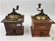 Sale 8439F - Lot 1831 - Two Vintage Japy Freres & Co. French Coffee Grinders
