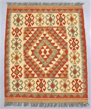 Sale 8438K - Lot 30 - Summer Afghan Tribal Kilim Rug | 104x83cm, Pure Wool, Finely handwoven in Northern Afghanistan using high quality local wool. Vibran...