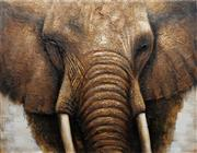 Sale 8753 - Lot 2041 - Artist Unknown - Untitled (Elephant) 150 x 200cm