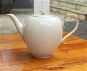 Sale 8741A - Lot 74 - A Bavarian cream and gilt ovoid form tea pot, H x 20cm