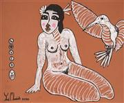 Sale 8936 - Lot 2077 - Yosi Messiah (1964 - ) Love B mixed media on paper (unframed) 65 x 50cm signed and dated -