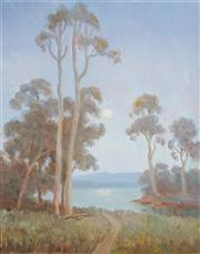 Sale 8958A - Lot 5054 - Erik Langker (1898 - 1982) - Moonrise 37 x 29 cm (frame: 52 x 45 x 3 cm)