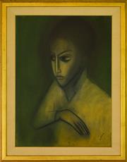 Sale 9080J - Lot 7 - Robert Dickerson - Figure 75x55cm