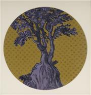 Sale 9084 - Lot 603 - Marika Borlase (1967 - ) - Memory Trees Series: Mauve Greengrocer, 2006 D: 29 cm (frame: 38 x 38 x 4 cm)