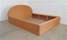 Sale 9129 - Lot 1043 - Cane bed frame - no fitting screws (bed head - h:100 x w:185cm)
