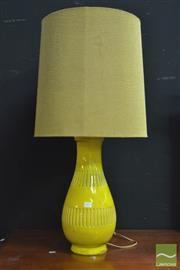 Sale 8398 - Lot 1013 - 1970s Pottery Base Table Lamp