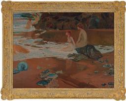 Sale 8550H - Lot 57 - Will Ashton - Bathing Sirens 77 x 102cm