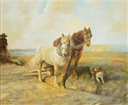 Sale 8642 - Lot 598 - Alan Lewis (1895 - 1987) - Ploughing the Field 59 x 67cm
