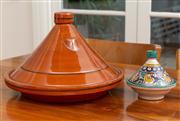 Sale 8741A - Lot 73 - Two tagines, larger diameter 40cm