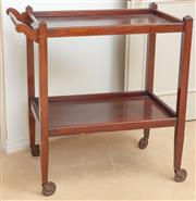 Sale 8908H - Lot 99 - A timber tray mobile with lower shelf. Height 86cm x Width 82cm