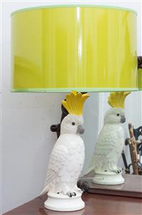 Sale 8934H - Lot 36 - A funky contemporary cockatoo lamp, Lindy B Studio Australia, total Height 77cm