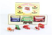 Sale 8960T - Lot 50 - Matchbox 40th anniversary series of miniatures incl. tractors and bus together with Days gone By boxed set of buses