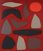 Sale 8980A - Lot 5003 - John Coburn (1925 - 2006) - Obiri Sunset, 1990 68.5 x 57.5 cm (frame: 106 x 93 x 5 cm)