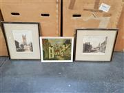 Sale 9058 - Lot 2081 - A pair of hand coloured engraving and decorative arts (3 works); 43 x 28 cm (largest)