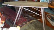 Sale 8320 - Lot 603 - Polished wood and folding steel ironing board circa 1940