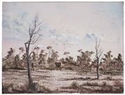 Sale 8506A - Lot 5022 - John Dynon (1954 - ) - Looking Over Pine View Station, 1983 30.5 x 40.5cm