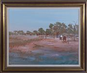 Sale 8550H - Lot 62 - Ray Crooke - Near Laura 59.5 x 74.5cm