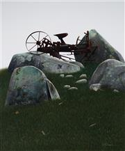 Sale 8947 - Lot 508 - Scott McDougall (1953 - ) - Broken Cart 89.5 x 74.5 cm (frame: 112 x 93 x 6 cm)