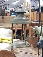 Sale 8984 - Lot 1091 - Pressed Metal Garden Lantern Depicting Birds (H:40cm)