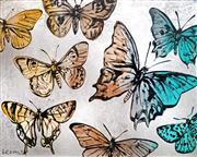 Sale 9047A - Lot 5029 - David Bromley (1960 - ) - Butterflies 120 x 150 cm