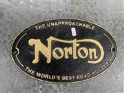 Sale 9026 - Lot 1038 - Cast Iron Reproduction Norton Sign