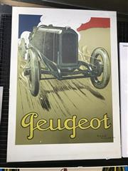 Sale 9045 - Lot 2017 - Peugeot Racing Car Poster ( 93cm x 67cm)