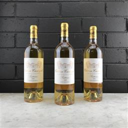 Sale 9089 - Lot 585 - 3x 2009 Chateau Cantegril, Sauternes