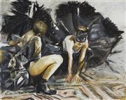 Sale 9084 - Lot 506 - Rosemary Valadon (1947 - ) - Bird in Cats Mask, 2003 77 x 95 cm (frame: 104 x 121 x 5 cm)