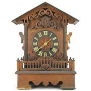 Sale 8342 - Lot 87 - Oak Cased Cuckoo Clock
