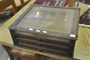 Sale 8392 - Lot 1086 - Glass Top Sewing Box
