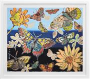 Sale 8415 - Lot 542 - David Bromley (1960 - ) - Butterflies 76 x 91cm