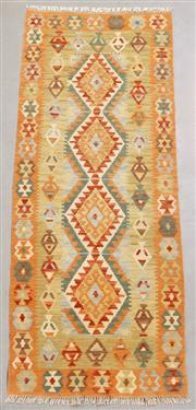 Sale 8438K - Lot 33 - Summer Afghan Tribal Kilim Runner | 186x74cm, Pure Wool, Finely handwoven in Northern Afghanistan using high quality local wool. Vib...