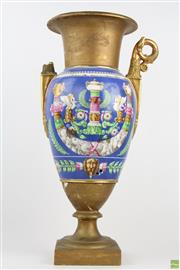 Sale 8568 - Lot 90 - French 19th Century Double Handled Vase (Damaged)