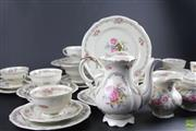 Sale 8578 - Lot 29 - Bavaria Floral Themed Part Service inc Plates, Cups and Jug