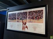 Sale 8619 - Lot 2047 - Michael Jordan Last Shot Print 307/750 56 x 106cm