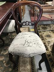 Sale 8822 - Lot 1538 - Harlequin Set of 6 Balloon Back Dining Chairs