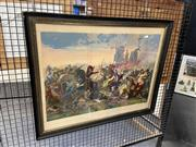 Sale 8927 - Lot 2062 - La Battaglia Di Legano Italian Battle Scene Print