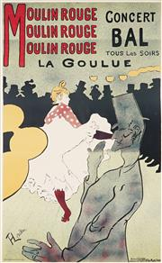 Sale 8945 - Lot 2010A - Vintage Reproduction lithographs by Toulouse-Lautrec, Dudley Hardy,