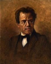 Sale 9001 - Lot 580 - After Anton Wagner - Portrait Of Gustav Mahler 63.5 x 50 cm (frame: 76 x 63 x 5 cm)