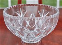 Sale 9090H - Lot 34 - A cut glass bowl, Height 13cm x Diameter 22cm