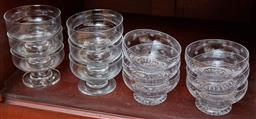 Sale 9098H - Lot 65 - Two sets of glass sundae dishes of good quality.