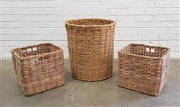 Sale 9129 - Lot 1053 - Collection of 3 wicker baskets (various sizes)