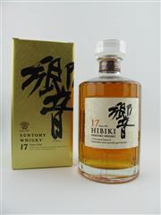 Sale 8367 - Lot 797 - 1x Suntory Whisky 17YO Hibiki Blended Japanese Whisky - special edition gold box