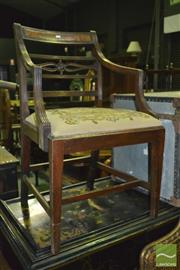 Sale 8390 - Lot 1570A - Antique Chair with Tapestry Seat