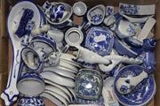 Sale 8432 - Lot 28 - Blue & White Ceramic Miniatures With Others incl Cabinet Plates